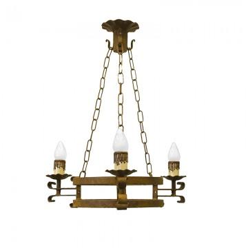 Lámpara Forja Alcántara 3 L