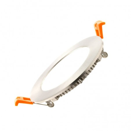 Placa Empotrable Slim LED 5W Circular Acero Inox