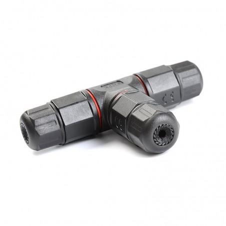 Conector negro de cables T-IP67