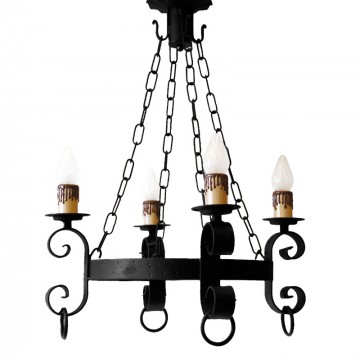 Lámpara Forja MIJAS 4 Luces