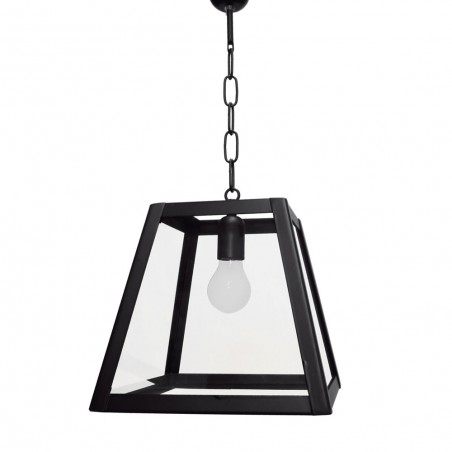 Farol Colgante Lagar de 1 luz en Negro - Transparente